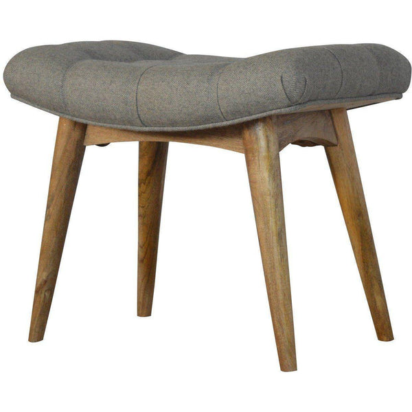 Scandinavian Round Grey Footstool-Modern Furniture Deals