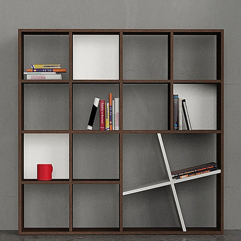 Shelfy Bookcase-Dark Brown-White-Modern Furniture Deals