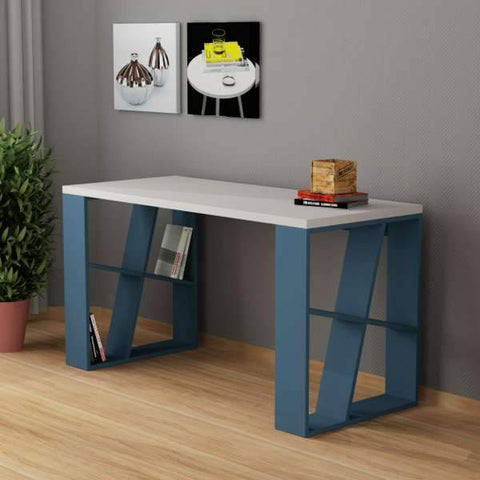 Shelfy Desk-White-A.Grey-Modern Furniture Deals