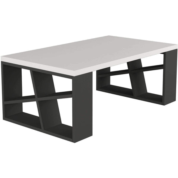 Shelfy Table-White-Grey-Modern Furniture Deals