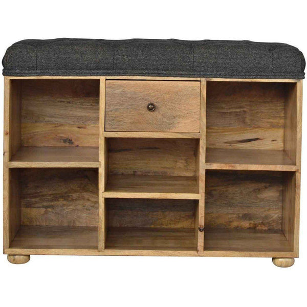 Shoe Rack, Tweed Bench-Modern Furniture Deals