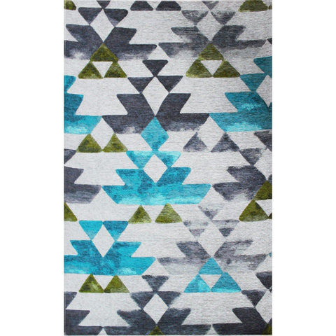 Sm 11 Rug - Beige-Aqua Xw 80X150-Modern Furniture Deals