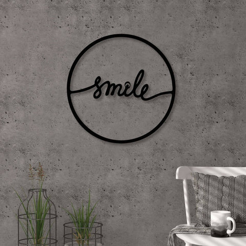Smile Metal Wall Art-Modern Furniture Deals
