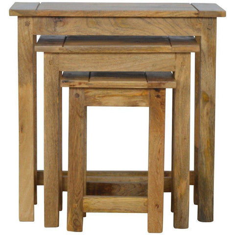 Solid Wood Set Of 3 Stools-Modern Furniture Deals