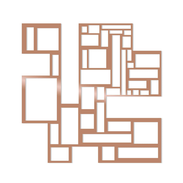 SQUARES - COPPER Wall Art-Metal Wall Art-[sale]-[design]-[modern]-Modern Furniture Deals