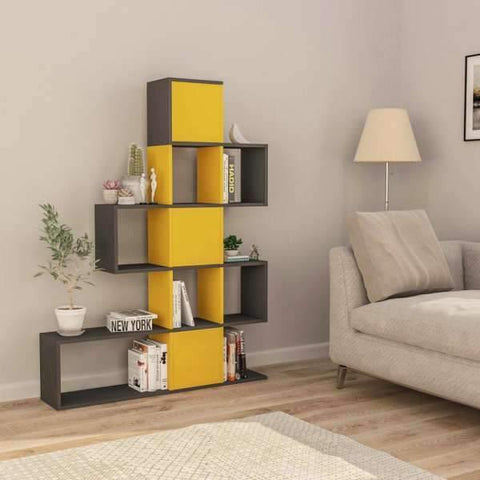 Stairway Bookcase-White-Oak-Modern Furniture Deals