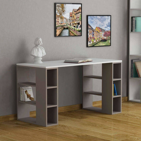Storex Desk-White-Burgundy-Modern Furniture Deals