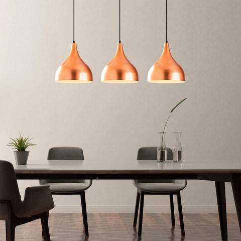 TALIA COPPER PENDANT 3 CEILING LIGHT-Modern Furniture Deals