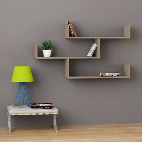 Temple Wall Shelf-Mocha-Modern Furniture Deals