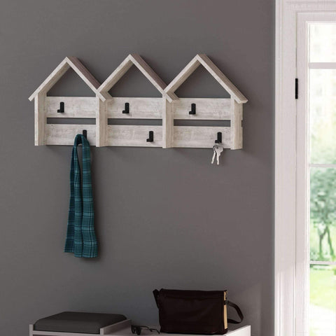 Terraced Coat Rack-Antique White-Modern Furniture Deals