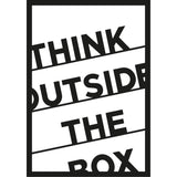 THINK OUTSIDE THE BOX Wall Art-Metal Wall Art-[sale]-[design]-[modern]-Modern Furniture Deals