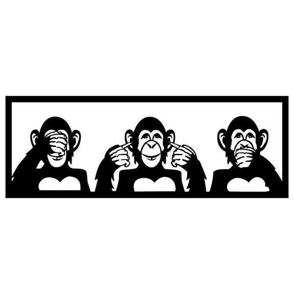 THREE MONKEYS - L Wall Art-Metal Wall Art-[sale]-[design]-[modern]-Modern Furniture Deals