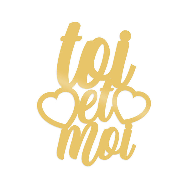 TOI ET MOI - GOLD Wall Art-Metal Wall Art-[sale]-[design]-[modern]-Modern Furniture Deals