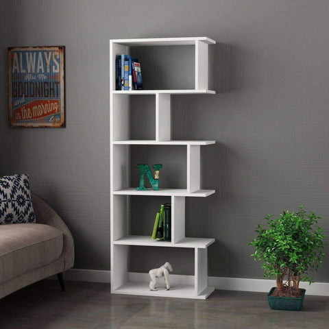 Toro Bookcase-White-Modern Furniture Deals