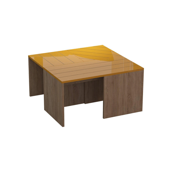 Trio Nest Of Tables-Oak-Mustard-Modern Furniture Deals