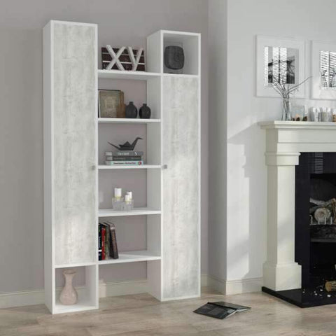 Twins Bookcase-White-Antique White-Modern Furniture Deals