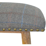 Upholstered Tweed Stool-Modern Furniture Deals