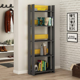 Valz Bookcase-A.Grey-Mustard-Modern Furniture Deals