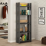 Valz Bookcase-A.Grey-Oak-Modern Furniture Deals