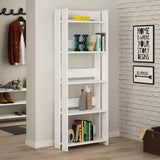 Valz Bookcase-White-Modern Furniture Deals