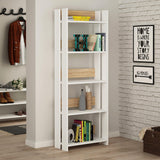 Valz Bookcase-White-Oak-Modern Furniture Deals