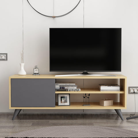 Vega Tv Unit Oak - Anthracite-FURNITURE>TV STANDS>TV STAND-[sale]-[design]-[modern]-Modern Furniture Deals