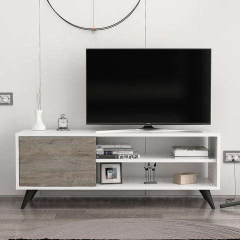 Vega Tv Unit Wiite - Dark Coffee-FURNITURE>TV STANDS>TV STAND-[sale]-[design]-[modern]-Modern Furniture Deals