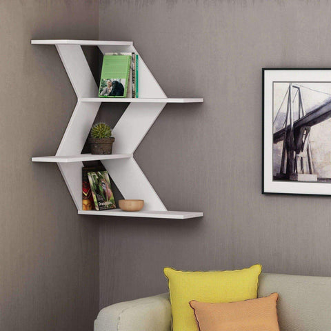 Wave Corner Shelf-White-Modern Furniture Deals