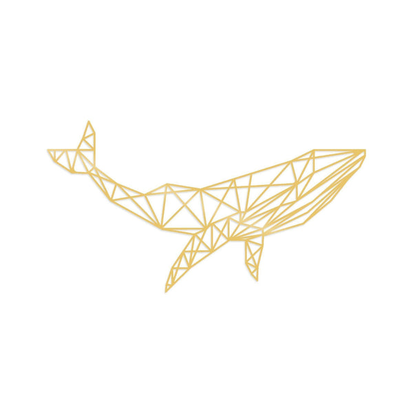 WHALE 1 - GOLD Wall Art-Metal Wall Art-[sale]-[design]-[modern]-Modern Furniture Deals