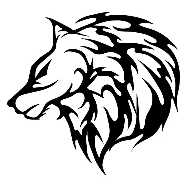 WOLF3 - BLACK Wall Art-Metal Wall Art-[sale]-[design]-[modern]-Modern Furniture Deals
