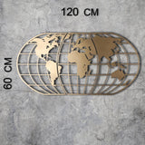 WORLD MAP GLOBE - GOLD Wall Art-Metal Wall Art-[sale]-[design]-[modern]-Modern Furniture Deals