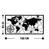 WORLD MAP MEDIUM 2 Wall Art-Metal Wall Art-[sale]-[design]-[modern]-Modern Furniture Deals