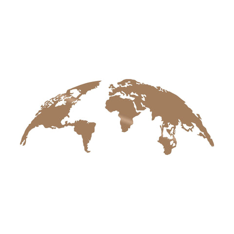 WORLD MAP MEDIUM - COPPER Wall Art-Metal Wall Art-[sale]-[design]-[modern]-Modern Furniture Deals