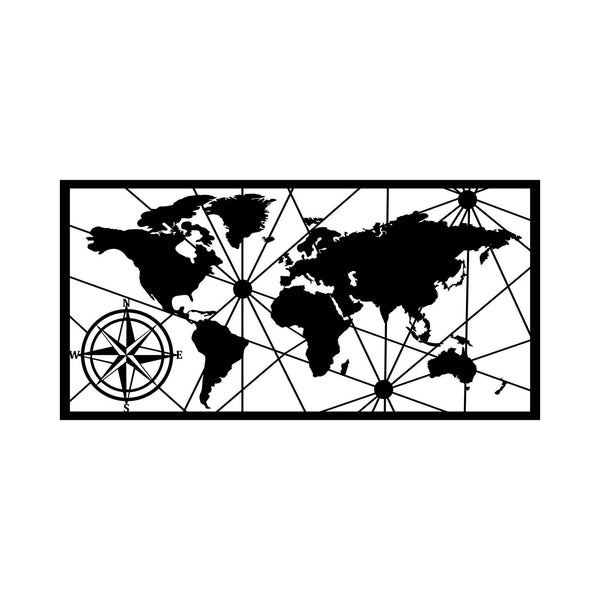 WORLD MAP SMALL 2 Wall Art-Metal Wall Art-[sale]-[design]-[modern]-Modern Furniture Deals