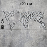WORLD MAP - WHITE Wall Art-Metal Wall Art-[sale]-[design]-[modern]-Modern Furniture Deals