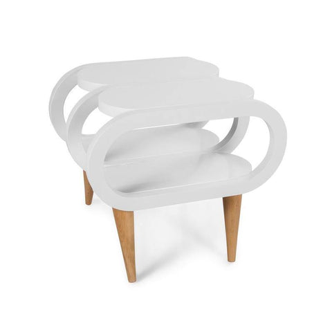 Y Design Side Table-White-Modern Furniture Deals