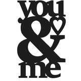 YOU & ME Wall Art-Metal Wall Art-[sale]-[design]-[modern]-Modern Furniture Deals