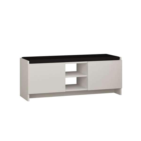 Z Design Shoe Bench-White-Modern Furniture Deals