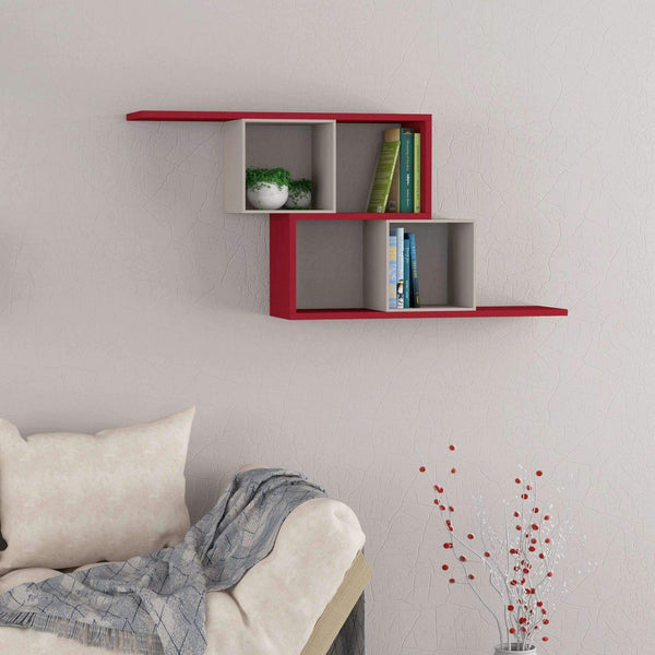 Zero Shelf-Mocha-Red-Modern Furniture Deals