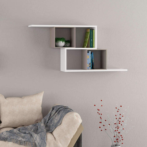 Zero Shelf-White-Mocha-Modern Furniture Deals