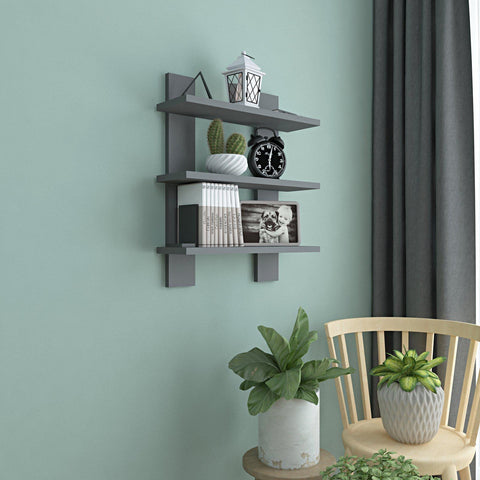 Zone Wall Shelf - Anthracite-FURNITURE>WALL SHELVES-[sale]-[design]-[modern]-Modern Furniture Deals