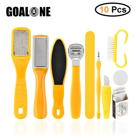 Foot Scrubber Professional Pedicure Tools Kit 10pcs