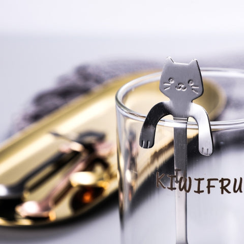 Stainless Steel Cat Spoon for Coffee