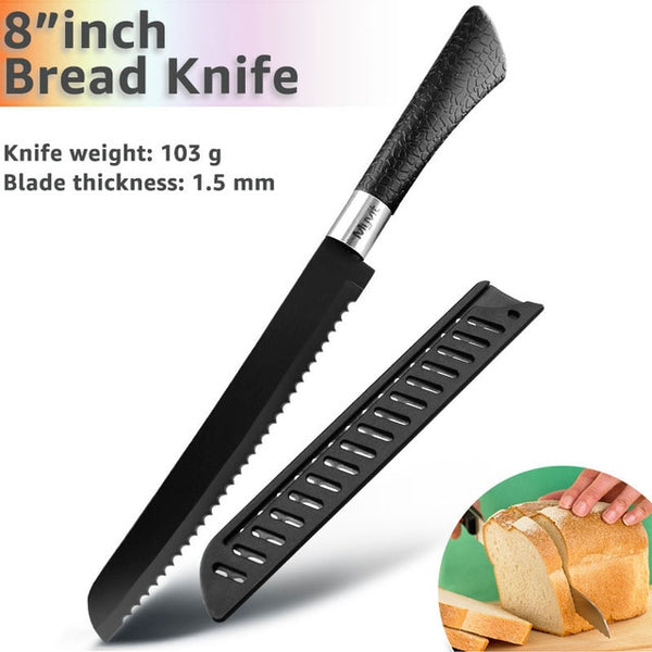 Siosm™ Santoku Knives Kitchen Knives - 440C Stainless Steel Non Stick Blades