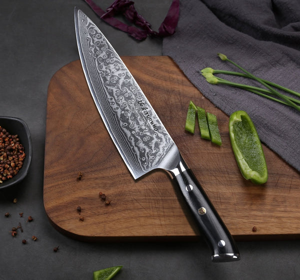 Siosm™ Japanese Damascus Kitchen Knives (Warning: Extremely Sharp)