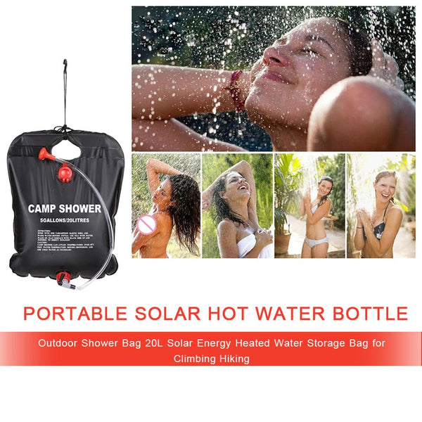 Solar Heated Shower Bath Bags PVC Water Storage Bag