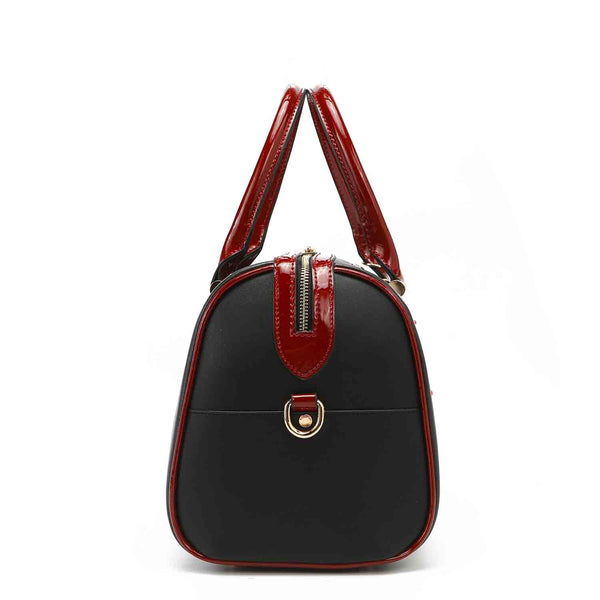 BOHEMIAN BLACK FASHION BOSTON BAG