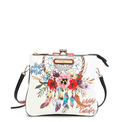 BOHEMIAN WHITE PRINT FASHION CHIC CROSSBODY