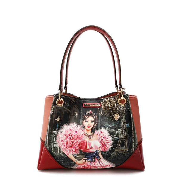 CRYSTAL PALACE PRINT SATCHEL BAG