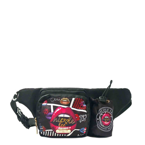 CRINKLE NYLON FASHION PRINT FANNY PACK